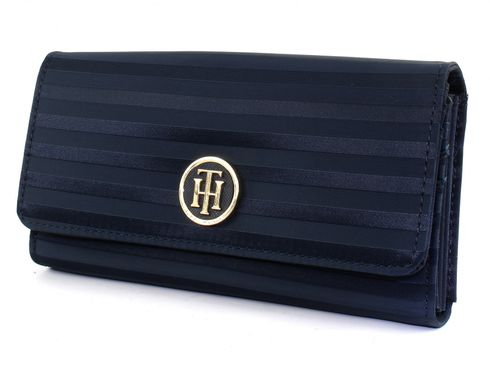 TOMMY HILFIGER Jacquard Nylon Large EW Wallet Midnight