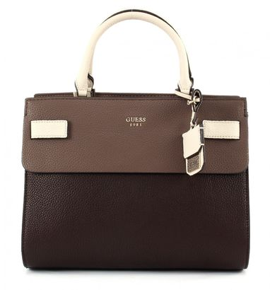 GUESS Cate Satchel Brown Multi