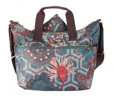 Oilily Paisley Shoulder Baby Bag Emerald