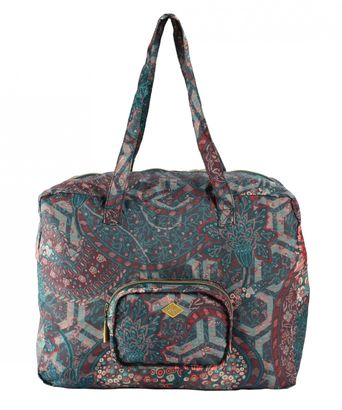 Oilily Paisley Folding Carry All Emerald