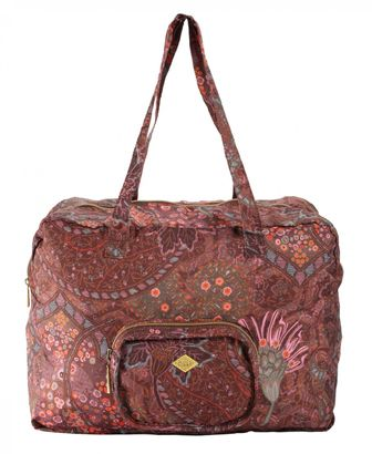 Oilily Paisley Folding Carry All Coffee
