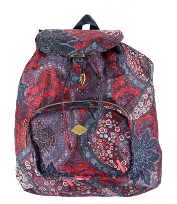 Oilily Paisley Folding Classic Backpack Dark Blue