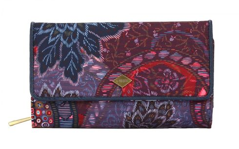 Oilily Paisley L Wallet Dark Blue