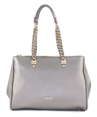 LIU JO Anna Chain Shopping L E/W Gun Metal