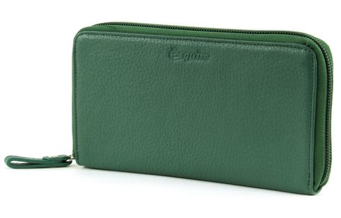 Esquire Primavera Zip Around Wallet Hunter Green