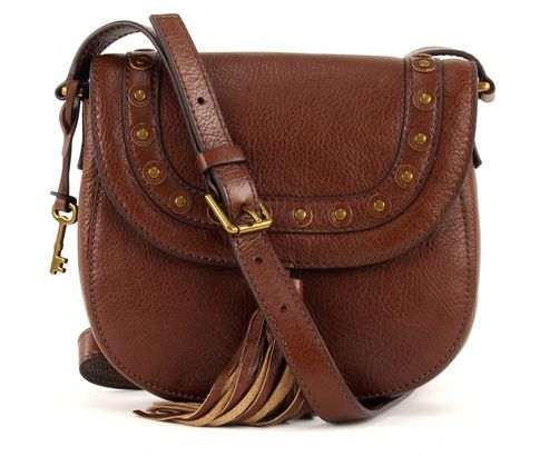 FOSSIL Emi Saddlebag Medium Brown