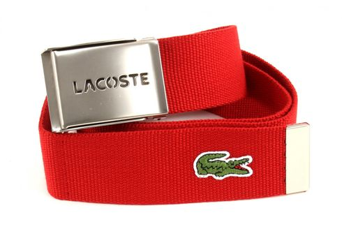 LACOSTE Gift Box Woven Strap W95 Red