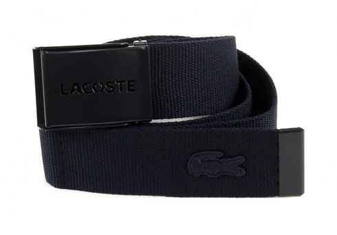 LACOSTE Gift Box 2 Woven Strap W110 Navy