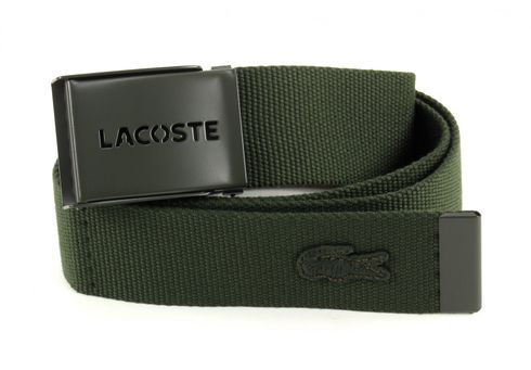 LACOSTE Gift Box 2 Woven Strap W110 Green