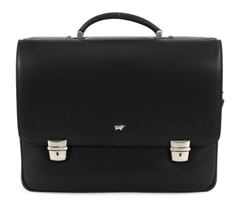 Braun Büffel Golf Expandable Briefcase Black