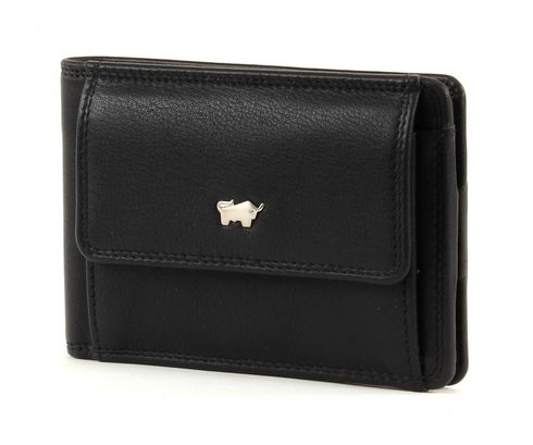 Braun Büffel Golf S Wallet Quer Black