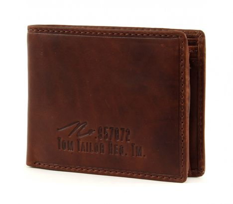 TOM TAILOR Gary Wallet Quer Cognac