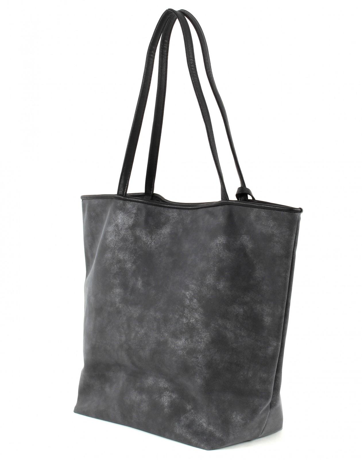 tom tailor shoulder bag denim mila shopper blue. Black Bedroom Furniture Sets. Home Design Ideas