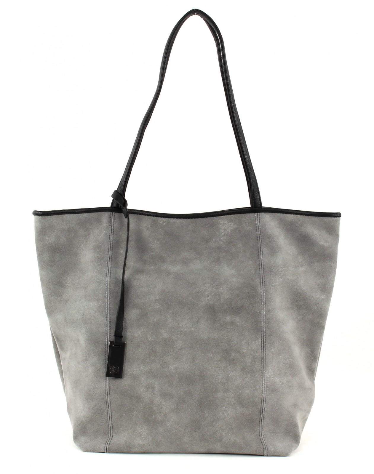 tom tailor shoulder bag denim mila shopper grey. Black Bedroom Furniture Sets. Home Design Ideas