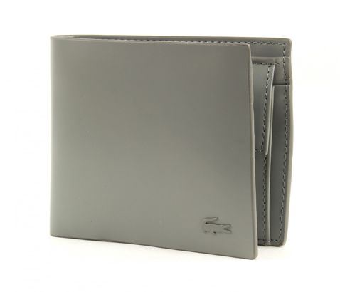 LACOSTE West Small Billfold & Coin Moon Mist
