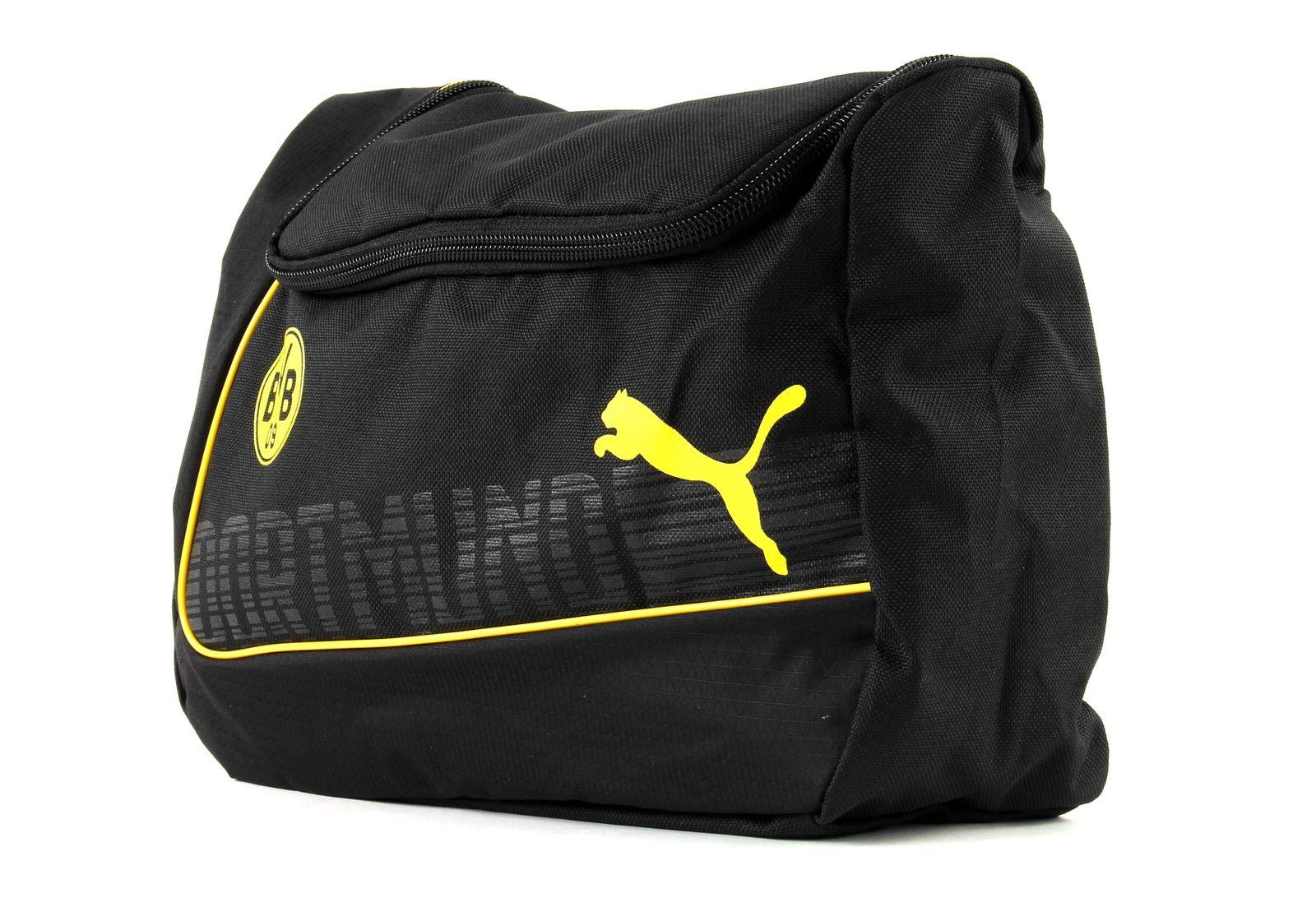 PUMA BVB evoPower Wash Bag Cyber Yellow-Black