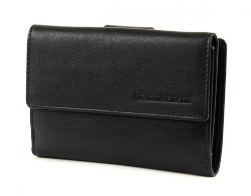 bruno banani Cryptalloy Wallet Zip with Flap Black