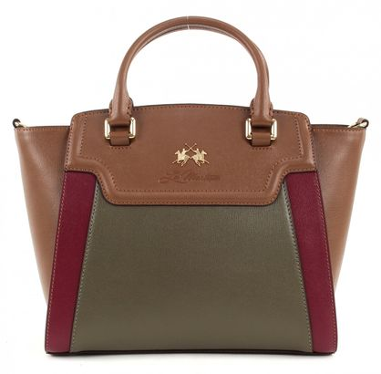 LA MARTINA La Portena Alejandra Small Brown / Green / Burgundy