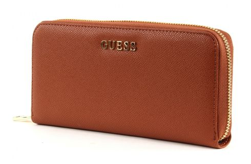 GUESS Isabeau Large Zip Around Organizer Cognac