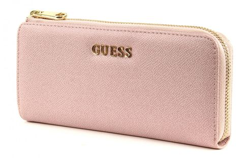 GUESS Isabeau Zip It Up Wallet Rose