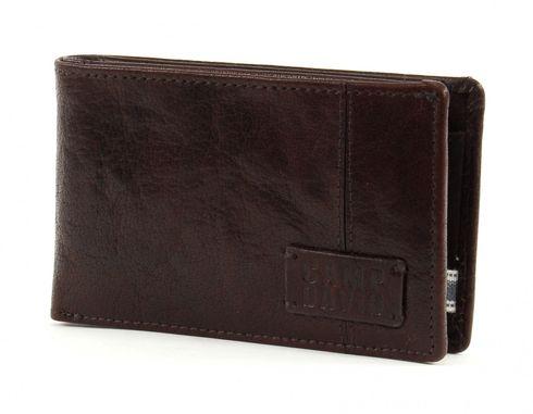 CAMP DAVID Bashful Peak Mini Wallet Quer Dark Brown
