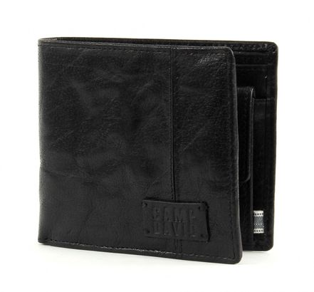 CAMP DAVID Bashful Peak Wallet Quer with Flap Black