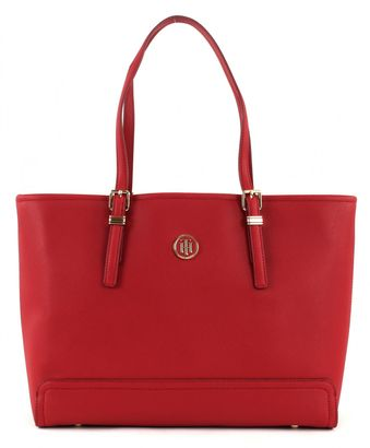 TOMMY HILFIGER Honey Medium Tote Scooter Red