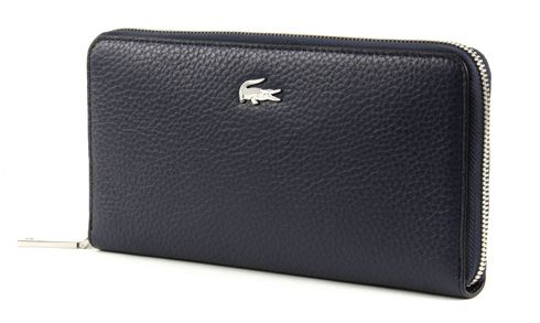 LACOSTE Renee Large Zip Wallet Peacoat