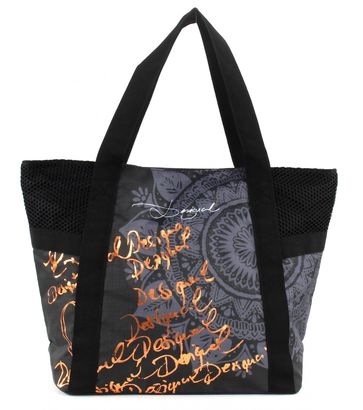 Desigual Bols Shopping Bag G Dorado