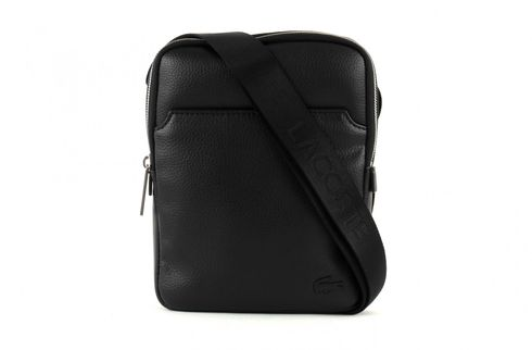 LACOSTE Gael S Flat Crossover Bag Black