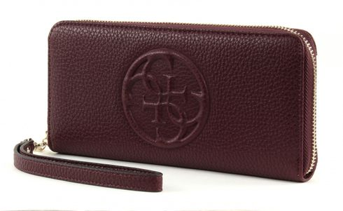 GUESS Korry Crush Large Zip Around Bordeaux