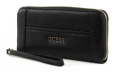 GUESS Nikki Large Zip Around Black