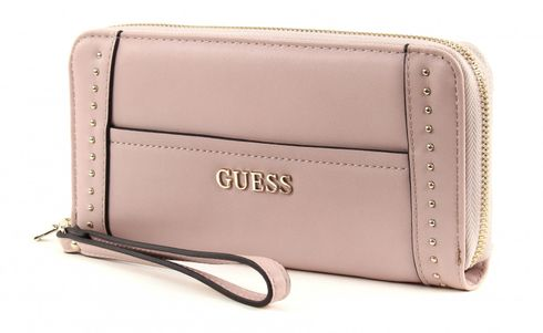 GUESS Nikki Large Zip Around Blush