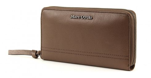 Marc O'Polo Grainy Buff Zip Wallet L Taupe