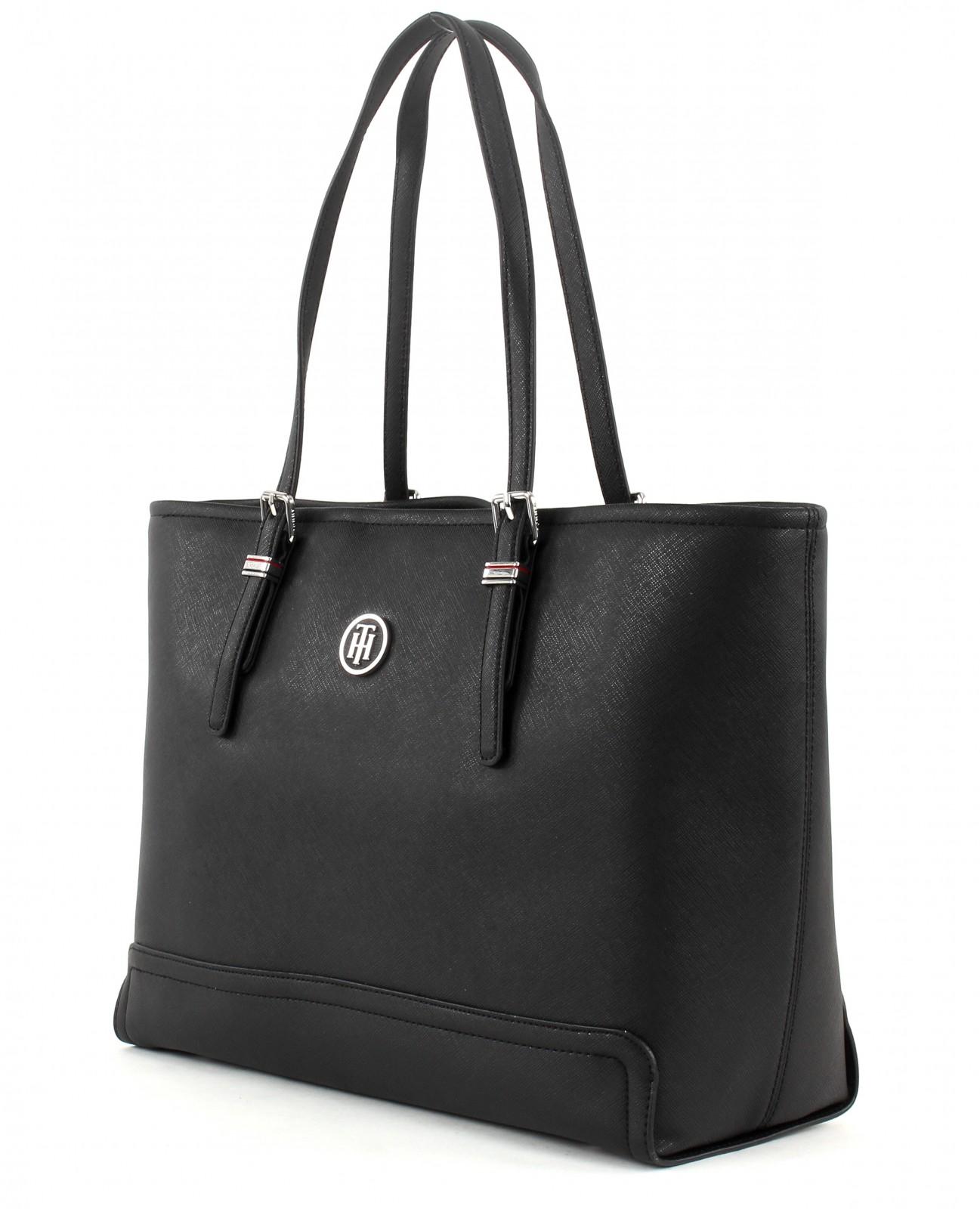 tommy hilfiger shoulder bag honey medium tote black. Black Bedroom Furniture Sets. Home Design Ideas