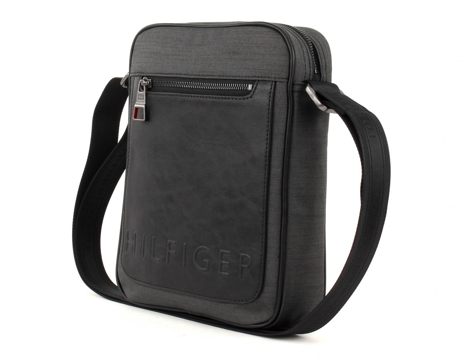 tommy hilfiger cross body bag th metropolitan slim reporter grey mix. Black Bedroom Furniture Sets. Home Design Ideas