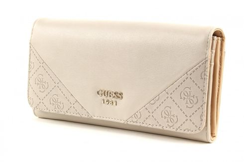 GUESS Cammie Large Flap Organizer Stone