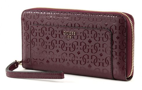 GUESS Marian Large Zip Around Bordeaux
