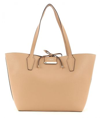GUESS Bobbi Inside Out Tote Camel Multi