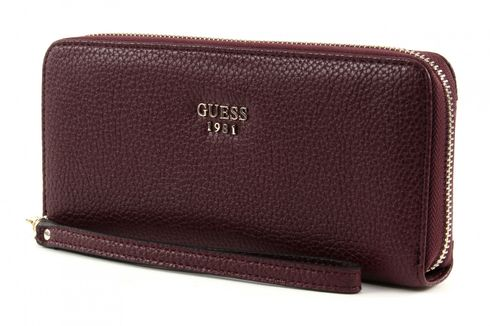 GUESS Cate Large Zip Around Bordeaux