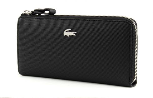 LACOSTE Daily Classic Slim Zip Wallet Black