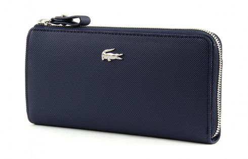 LACOSTE Daily Classic Slim Zip Wallet Peacoat