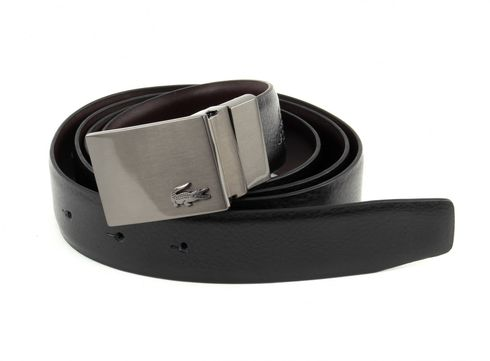 LACOSTE Reversible Curved Belt W85 Black