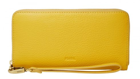 FOSSIL Emma Large Zip Clutch RFID Mimosa