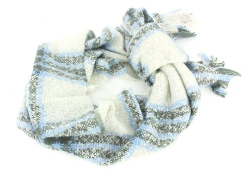 ESPRIT edc Brushed Checked Scarf Off White