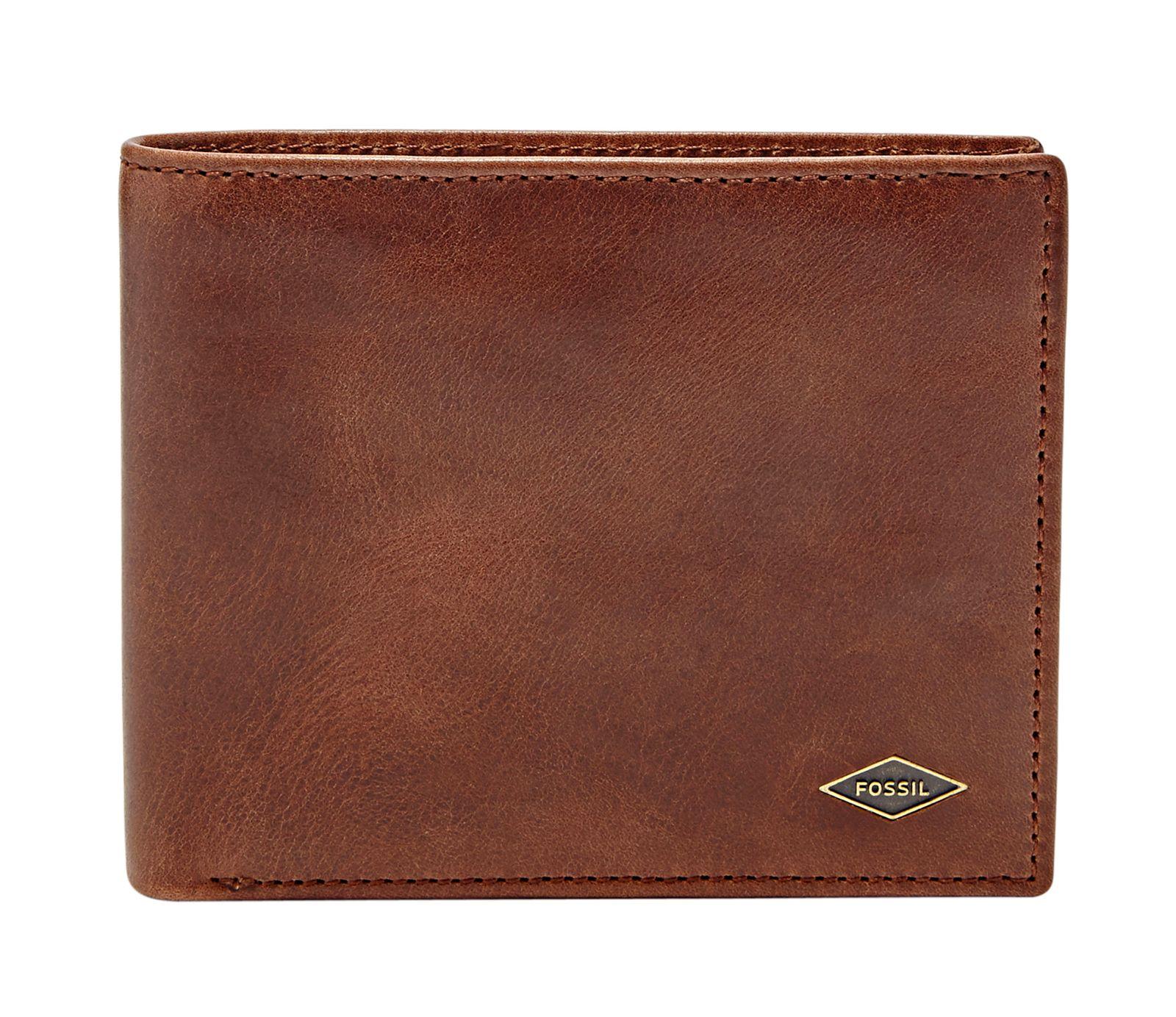 FOSSIL Ryan Large Coin Pocket Bifold RFID Dark Brown