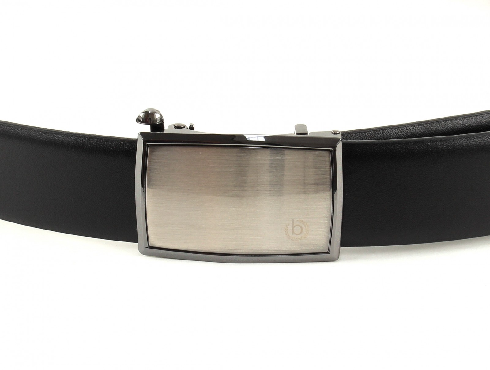 bugatti Domed Leatherbelt with automatic Buckle W90 Black