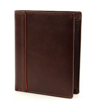 Samsonite West Harbor SLG Wallet 4 CC + Coin Brown / Orange