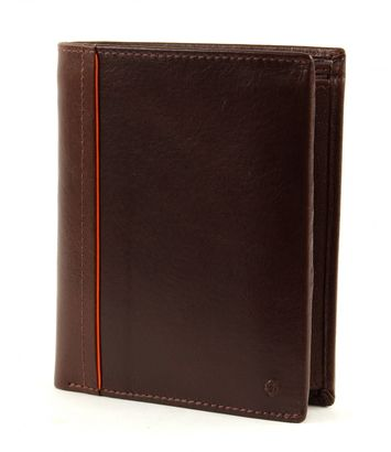 Samsonite West Harbor SLG Wallet 11 CC + Coin Brown / Orange