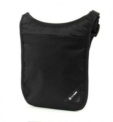 pacsafe Coversafe V75 RFID Blocking Neck Pouch Black